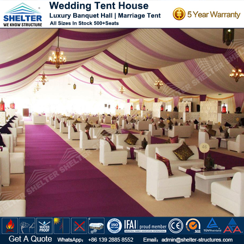 Decorated Outdoor Wedding Tent for Sale & Outdoor Wedding Tent - Outdoor Banquet Hall - Luxury Marriage Tent