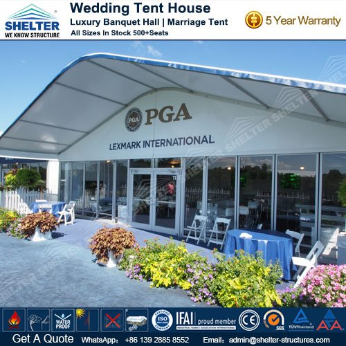 Large Marquee for Sale - 2015 PGA Tour & Large Marquee with Curved Roof - Arch Tent House - Luxury Wedding Tent