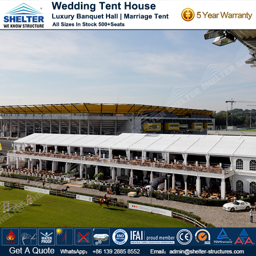 Two Story Tent for Large Outdoor Catering & Two Story Tent - Large German Structures - Luxury Wedding Tents
